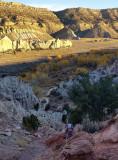 Climbing up to Yellow rock