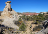 Hiking across from Yellow rock to the Paria