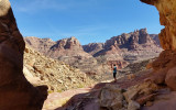 We drop down into a side canyon that provides easy access into the main Dark Canyon