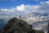 In the afternoon we climbed a peak above the hut - Inner Wetter Spitze - a great steep scramble