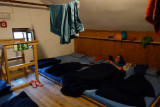 A typical dorm room in the Martin Busch Hutte