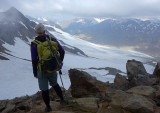 On the Saykogel at 3355m above the Martin Busch Hutte
