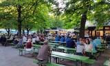Munich and a beer garden!