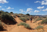 Old sandy trail on the plateau above Buckskin