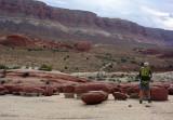 'Hamburger rocks' are a strange set of eroded red stones sitting on the slickrock