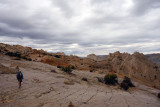 The rain started as we hiked the Post trail' back into Lower Muley Twist