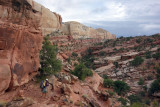 Post Trail was a superb route over slickrock- dropping back into Lower Muley Twist