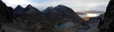 Jan 19 Skye Coir a Ghrunnda panorama out to Soay and Rum