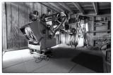 Amateur Observatory Interior - BW