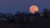 Moon Rises over Albany