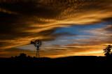 Windmill Sunset (Composition #4)