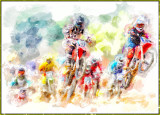 Cyclists_FotoSketcher by Mitch, April 2017