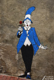 Blue clown & Red rose / Clown bleu & Rose rouge