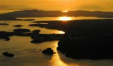 Sunset across Lopez Island and San Juan Island Washington 322