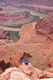 Selfie on the edge at Dead Horse Point State Park Utah 435