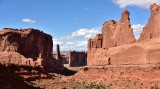 Courthouse Towers and Park Avenue in Arches National Park Moab Utah 657