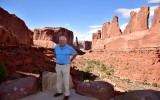 Charlie at Park Avenue in Arches National Park Utah 672