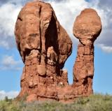 Rock formation at Garden of Eden in Arches National Park Moab Utah 1110