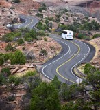 Windy Road in Canyonlands National Park Moab Utah 066a