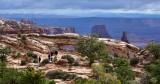 Visitors at Mesa Arch Canyonlands National Park Moab Utah 170
