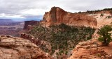 Landscape from Mesa Arch in Canyonlands National Park Moab Utah 223
