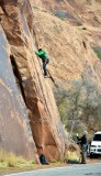 Scaling the Wall on Poison Spider Mesa Moab Utah 636