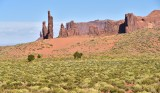 The Totem and Sand Dunes at Monument Valley Tribal Park Arizona-Utah 747