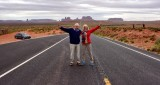 Charlie and Nancy at Forrest Gump Hill on Highway 163 083