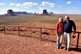 Charlie and Nancy at Artist Point in Monument Valley Tribal Park 784