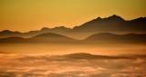 Sunset on Olympic Mountains Washington 624