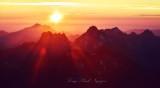 Sunset on western slope of Cascade Mountain Washington 268