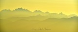 Forest Fire Smoke at Sunset across the Olympic Mountains 003