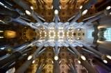La Sagrada Familia Ceiling  Barcelona Spain 094