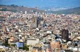 La Sagrada Familia and Barcelona from Montjuïc Castle Spain 149