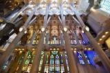 La Sagrada Familia Blue Window  Barcelona Spain 111