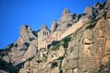 Abbey of Montserrat from Aeri Cable Car station Montserrat Spain 055