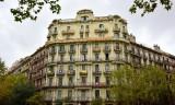 Building Facade in Barcelona Spain 016a