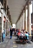 Outside dining on La Boqueria  Barcelona Spain 483