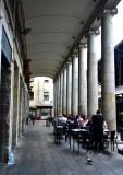 Outside dining on La Boqueria  Barcelona Spain 480a