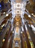 La Sagrada Familia Interior Barcelona Spain 051