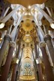 La Sagrada Familia Interior Barcelona Spain 301
