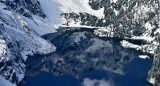 Kaleetan Peak reflection in Snow Lake Cascade Mountains 1006