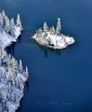 Island in Upper Wildcat Lake Mt Roosevelt Cascade Mountains Washington 920