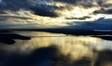 Evening sun on Lake Washington and Seattle 356