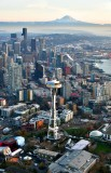 Space Needle Seattle Skyline Mt Rainier Seattle Washington 187