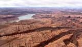 Rock formation over Peshliki Fork in Glen Canyon Lake Powel Good Hope Mesa l Utah 317