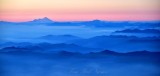 Sunset on Mt Baker and Mt Shuksan and Cascade Mountains 168