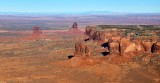 The View Hotel, West Mitten Butte, Merrick Butte, Mitchell Mesa and Butte, Monument Valley, Navajo Nation,  Arizona  1032