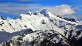 Dome Peak and Dome Glacier, Sinister Peak, North Cascades Mountain, Washington 110