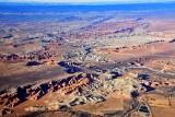 Flying over Hanksville and Airport, Factory Bench, Muddy Creek, Wild Horse Mesa, San Rafael Reef, Utah 1030